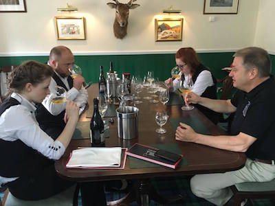 Wine tasting in The Drammery at Taynuilt Hotel